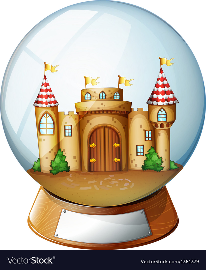 A palace inside the crystal ball vector | Price: 1 Credit (USD $1)
