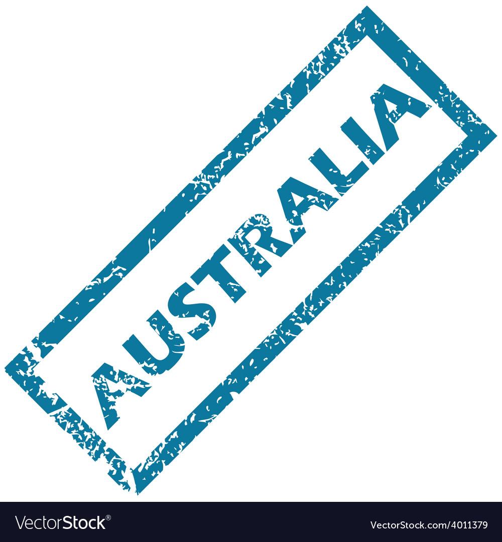 Australia rubber stamp vector | Price: 1 Credit (USD $1)