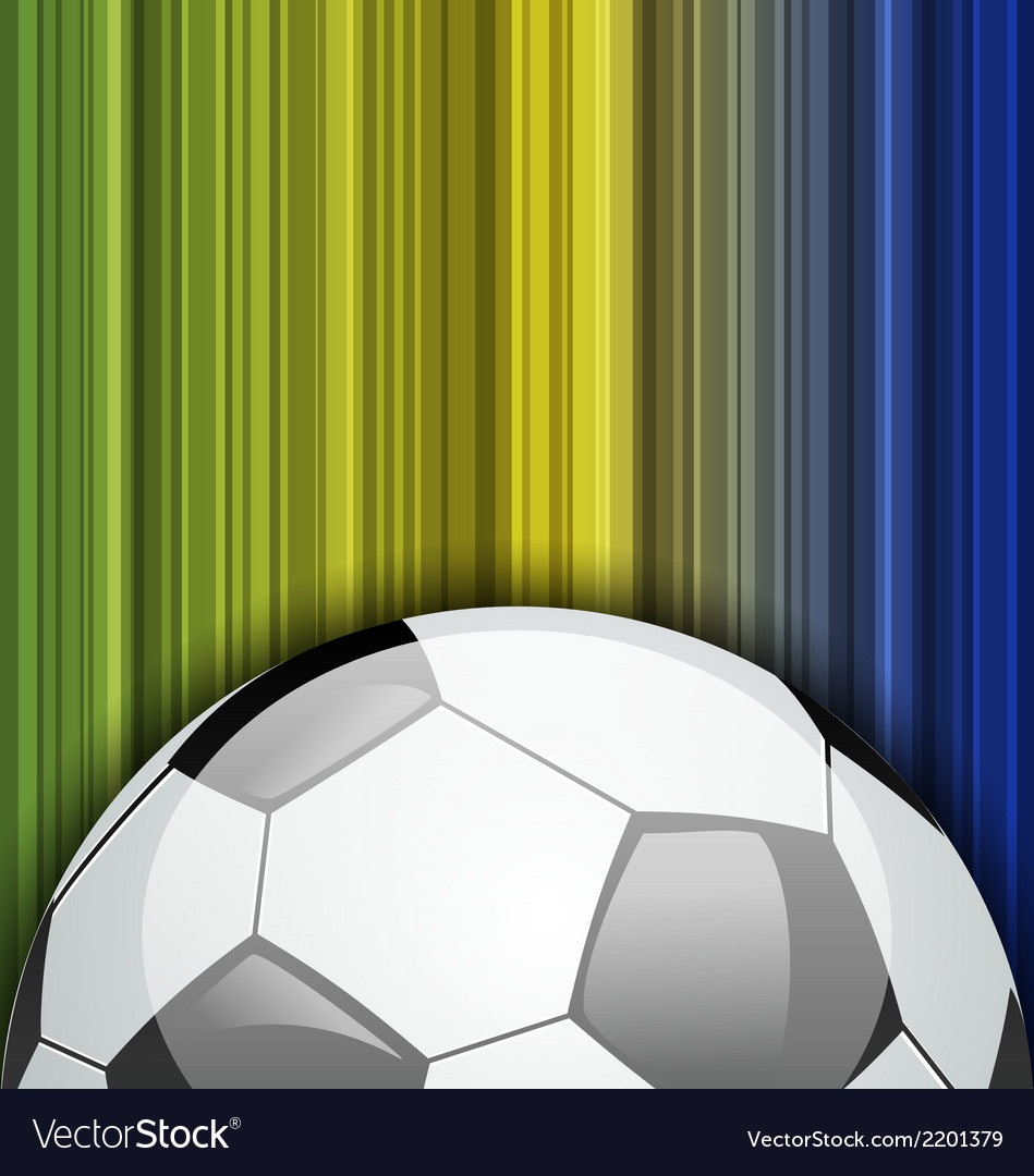 Background with soccer ball brazil 2014 football vector | Price: 1 Credit (USD $1)