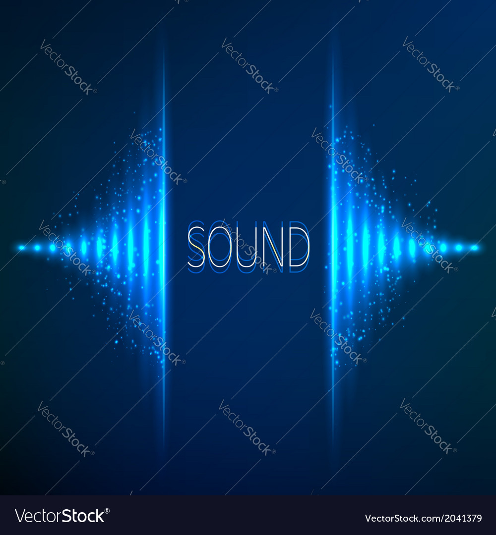 Blue neon stereo equalizer vector | Price: 1 Credit (USD $1)