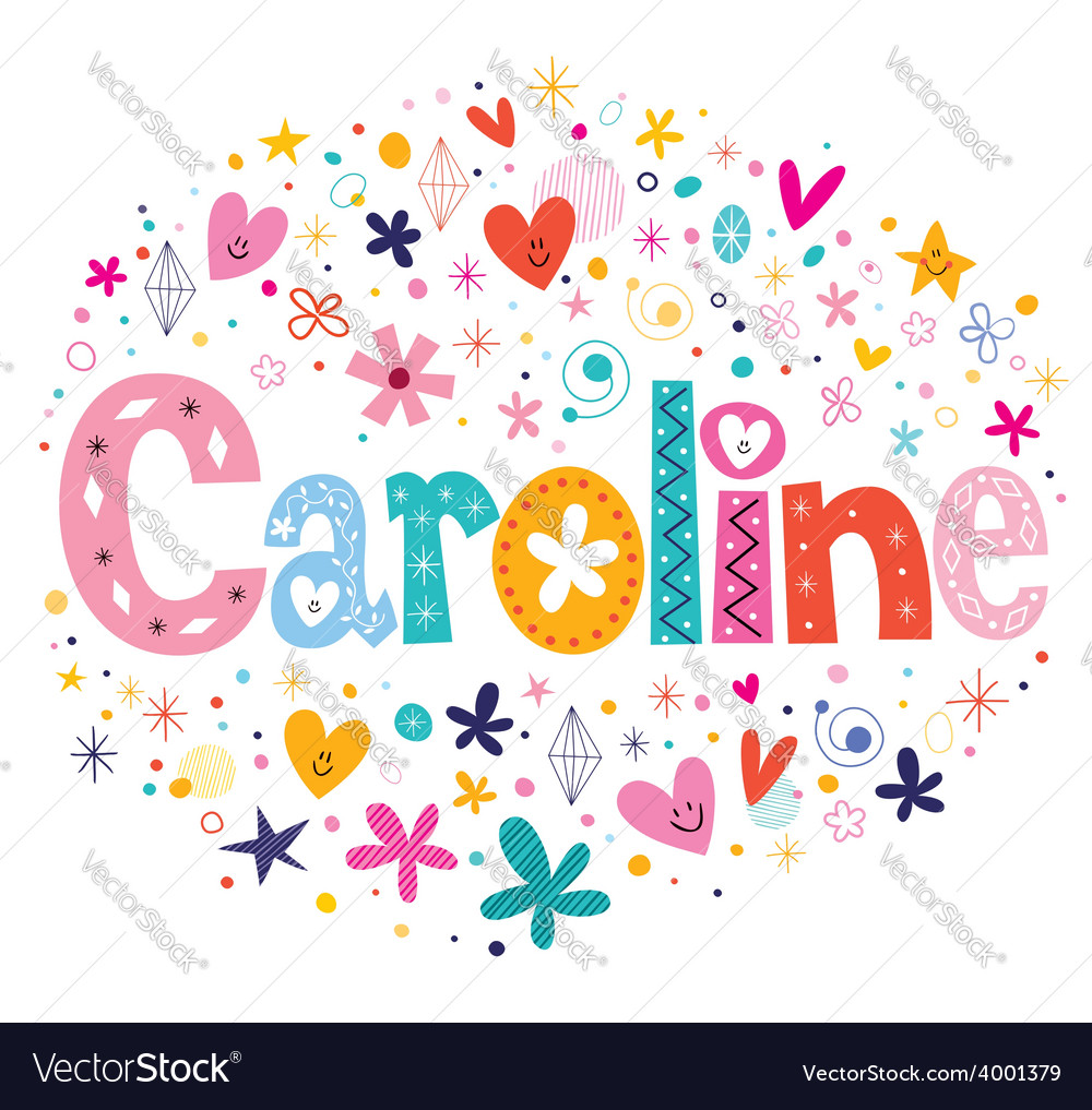 Caroline name design vector | Price: 1 Credit (USD $1)