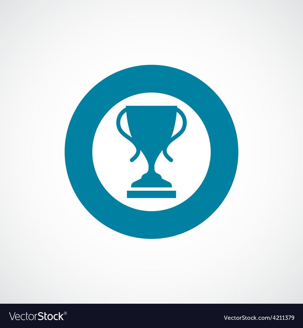 Cup icon bold blue circle border vector | Price: 1 Credit (USD $1)