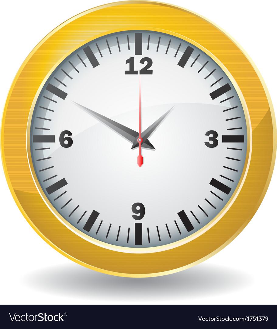 Golden clock vector | Price: 1 Credit (USD $1)