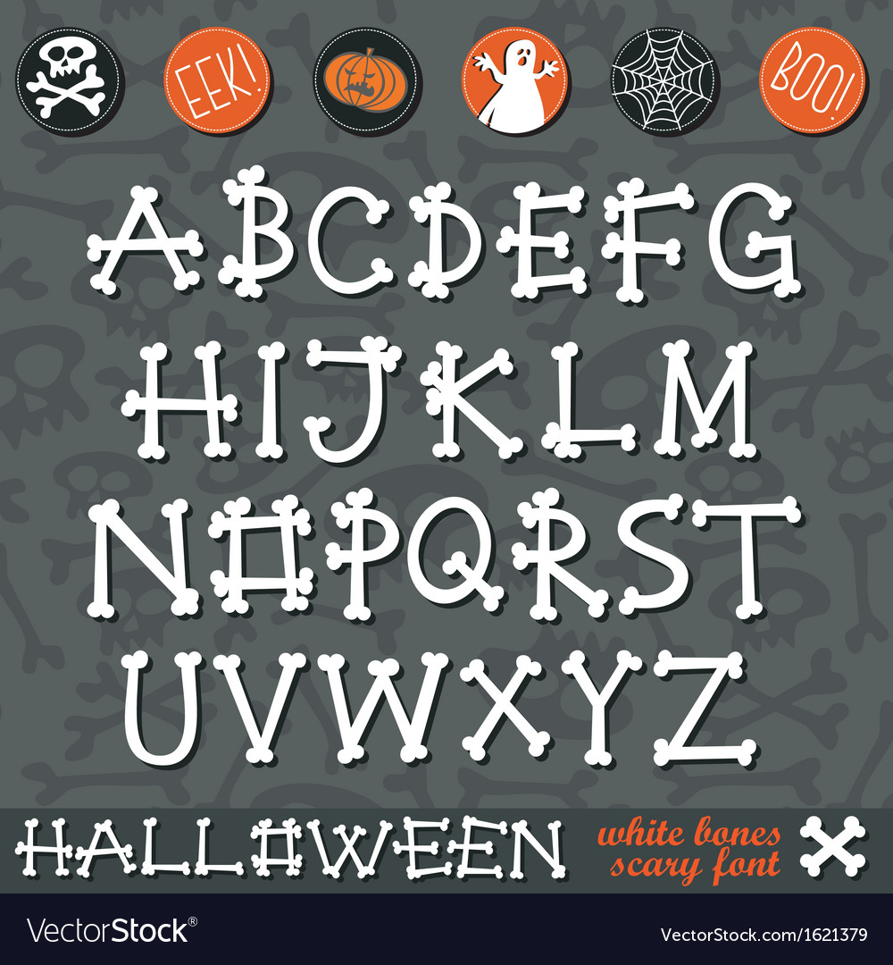 Halloween bone alphabet vector | Price: 1 Credit (USD $1)