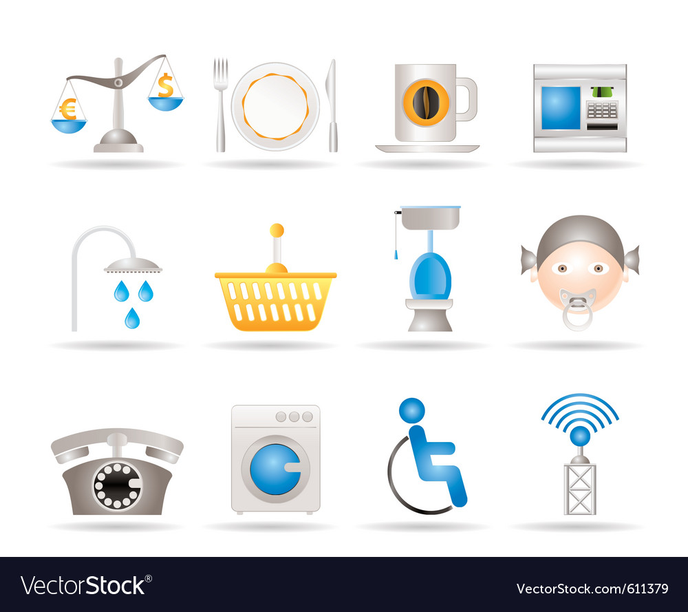 Hotel and motel services vector | Price: 3 Credit (USD $3)