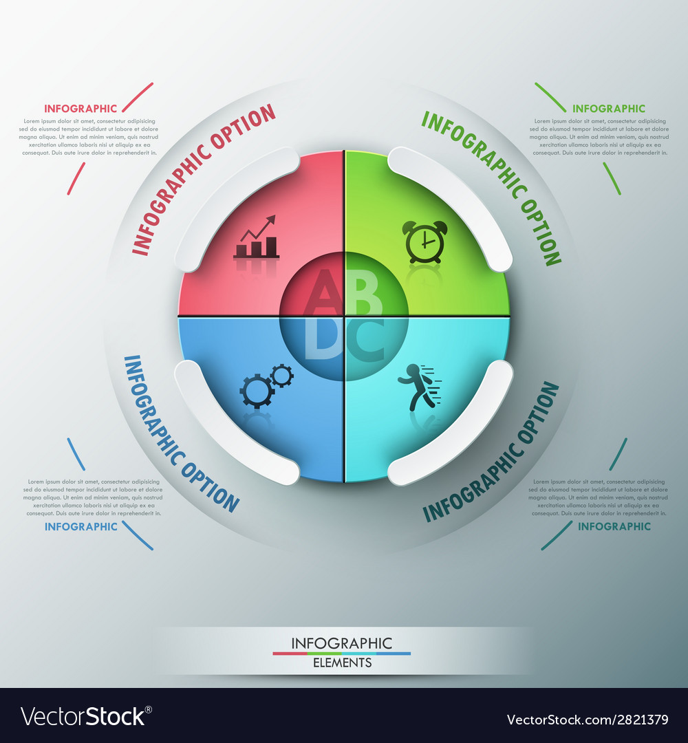 Modern infographics options banner vector   Price: 1 Credit (USD $1)