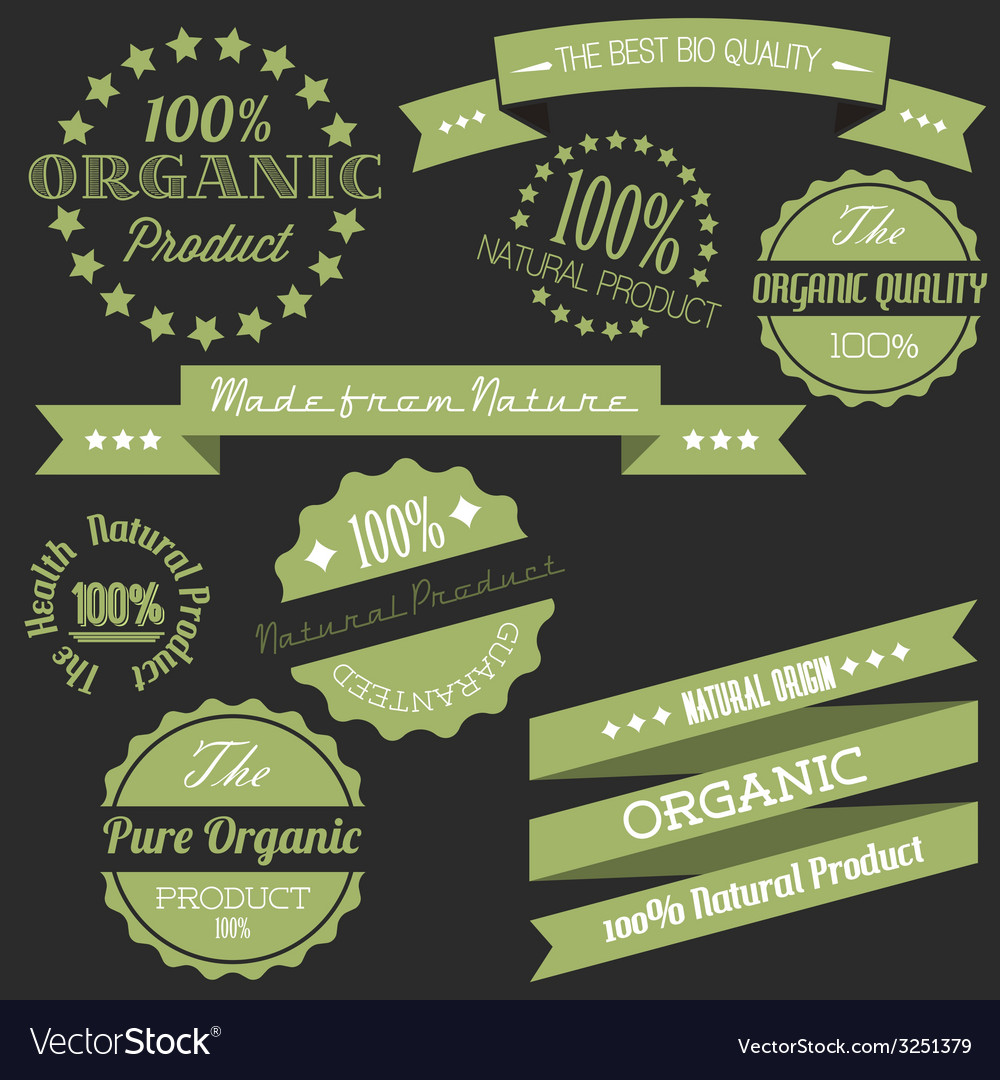 Old retro vintage elements for organic natural vector | Price: 1 Credit (USD $1)