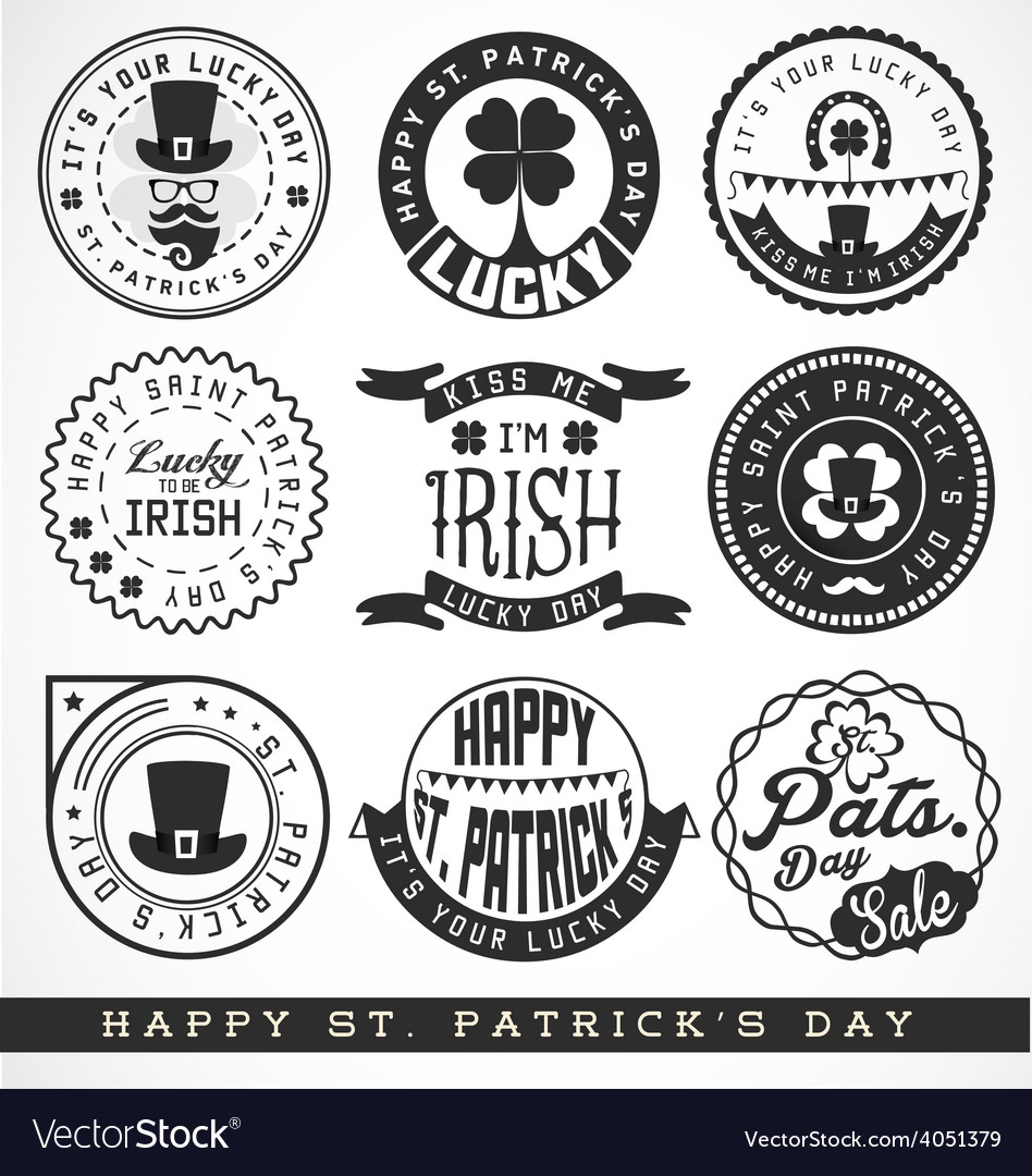 Saint patrick typographical design elements vector | Price: 1 Credit (USD $1)