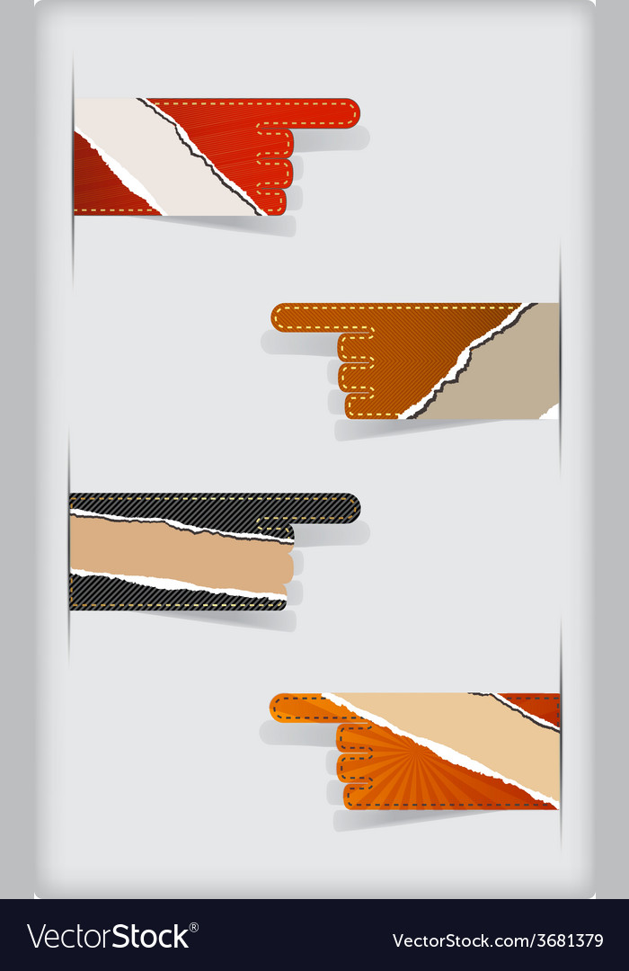 Set of colorful torn blank stickers vector | Price: 1 Credit (USD $1)