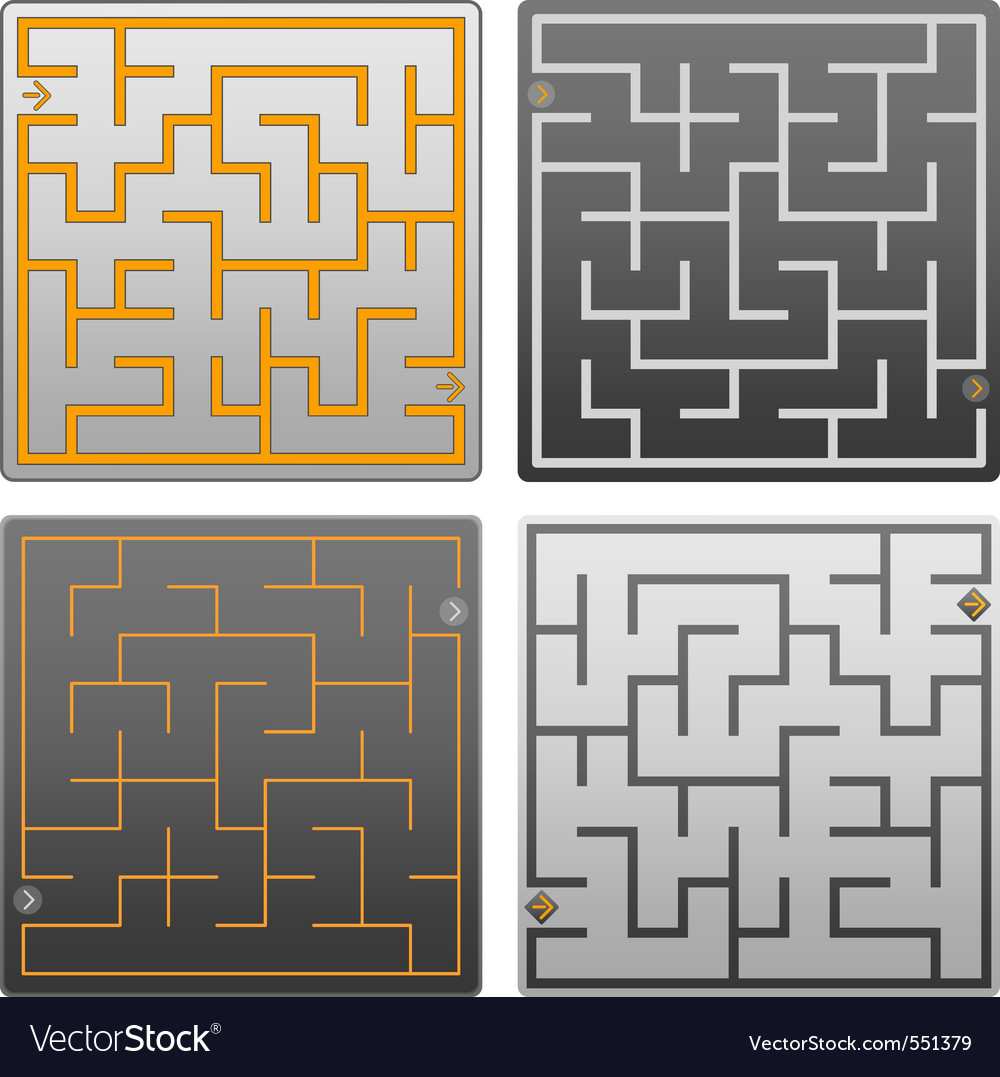 Small gray labyrinth vector | Price: 1 Credit (USD $1)