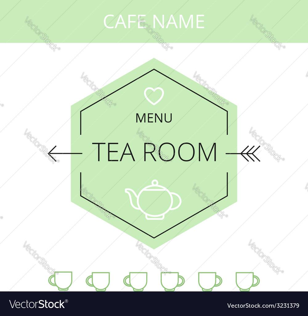 Tea room business card template vector | Price: 1 Credit (USD $1)