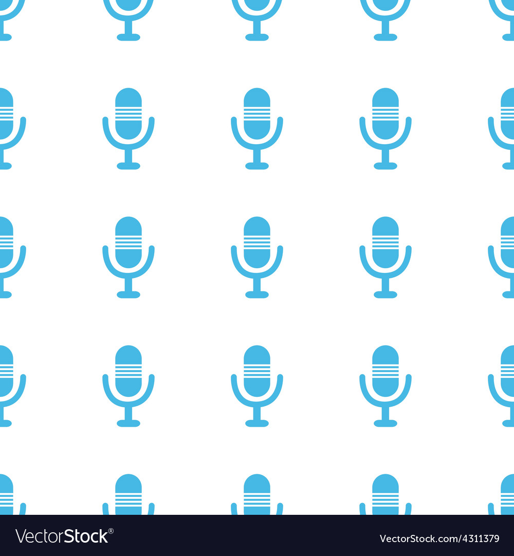 Unique microphone seamless pattern vector | Price: 1 Credit (USD $1)