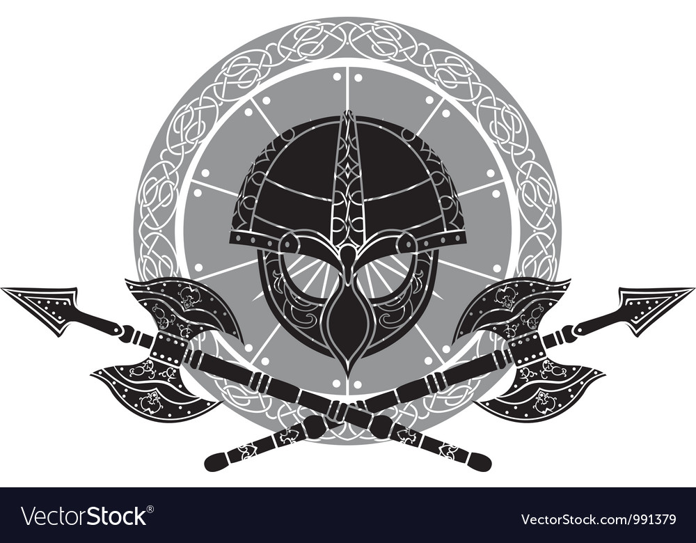 Vikings helmet vector | Price: 1 Credit (USD $1)