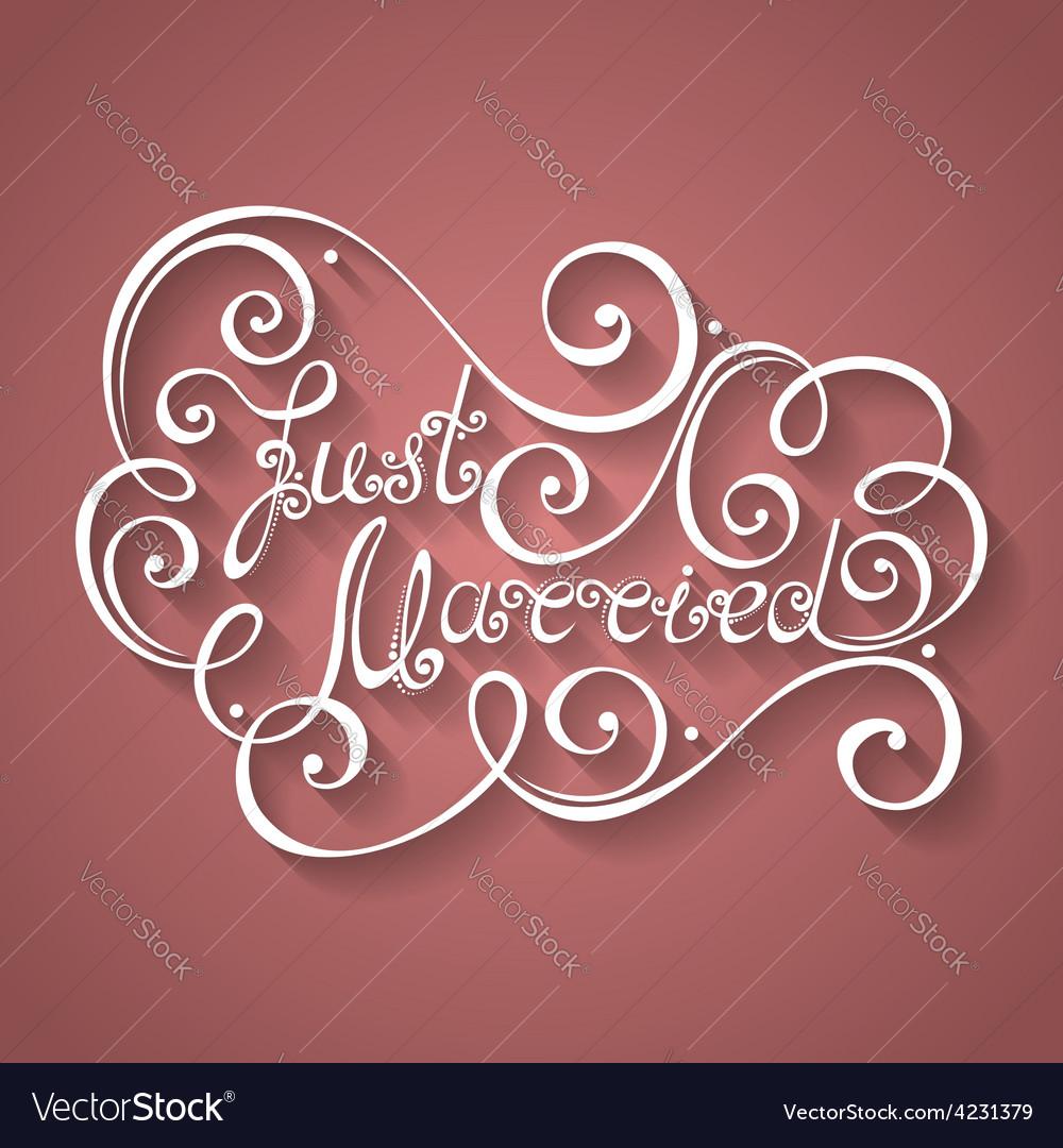Wedding lettering vector | Price: 1 Credit (USD $1)
