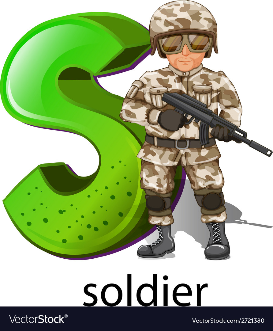 A letter s for soldier vector | Price: 1 Credit (USD $1)