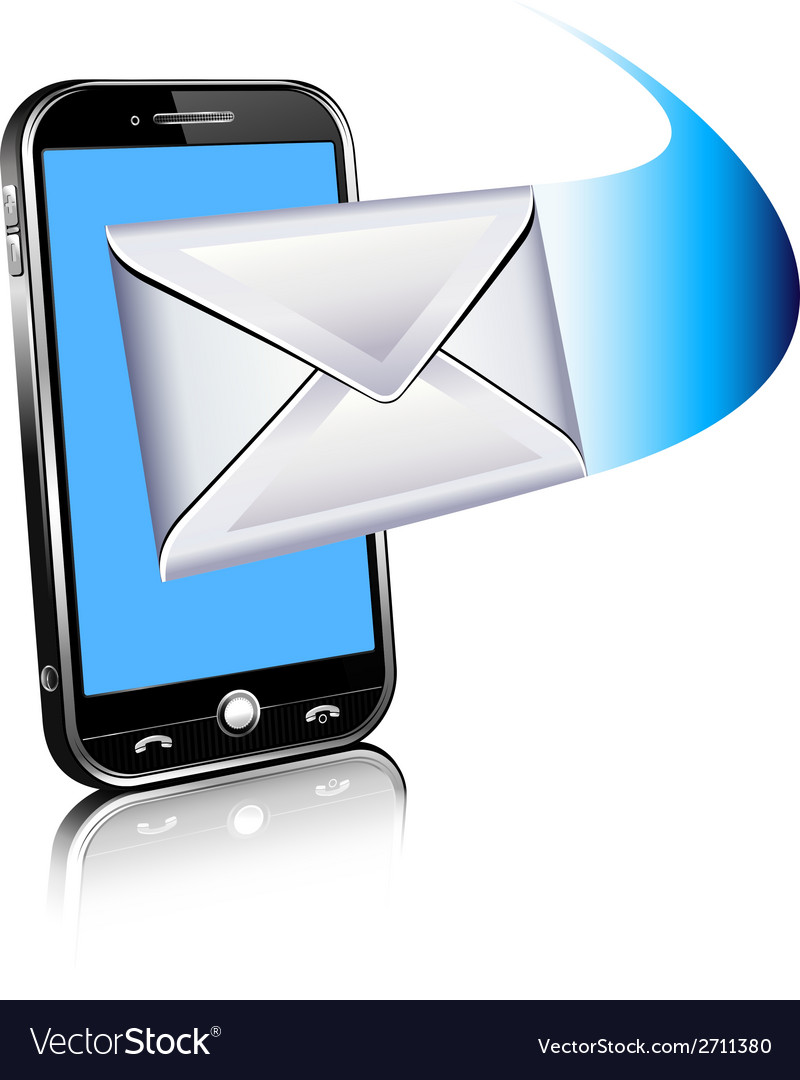 Cell phone email mailing sms text vector | Price: 1 Credit (USD $1)