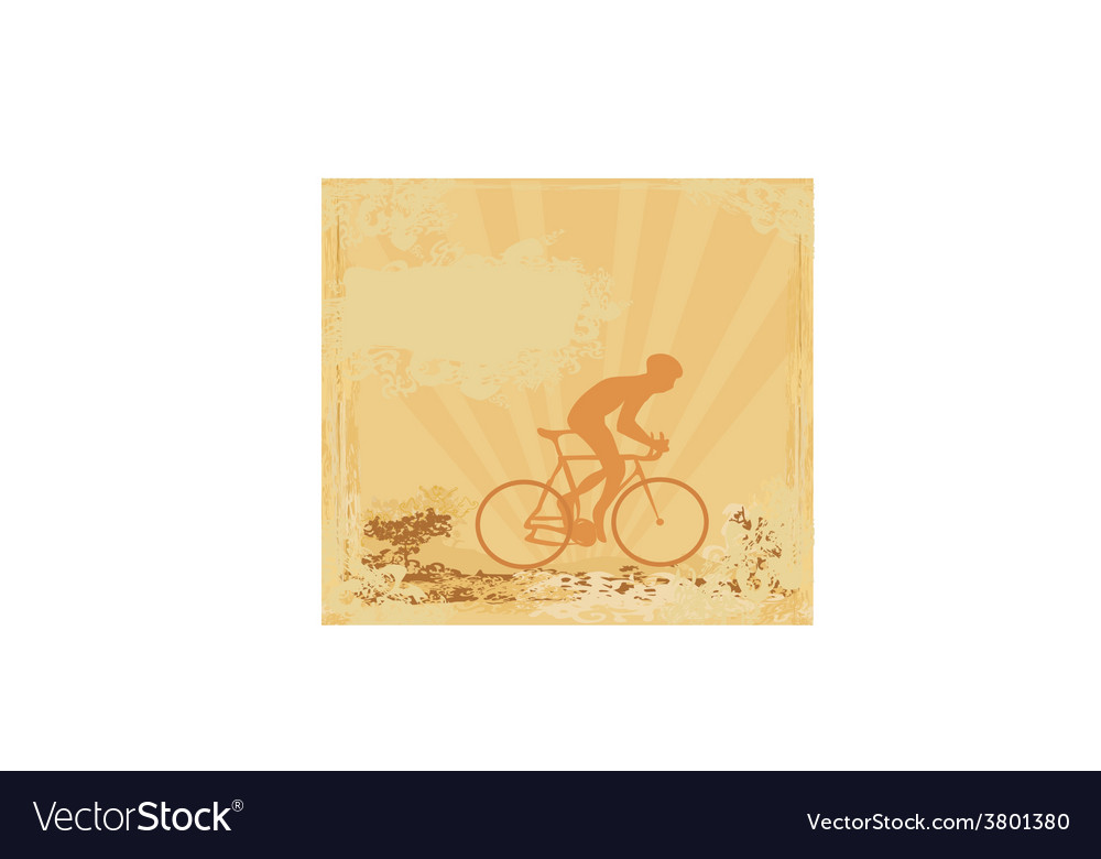 Cycling man silhouette grunge poster template vector   Price: 1 Credit (USD $1)