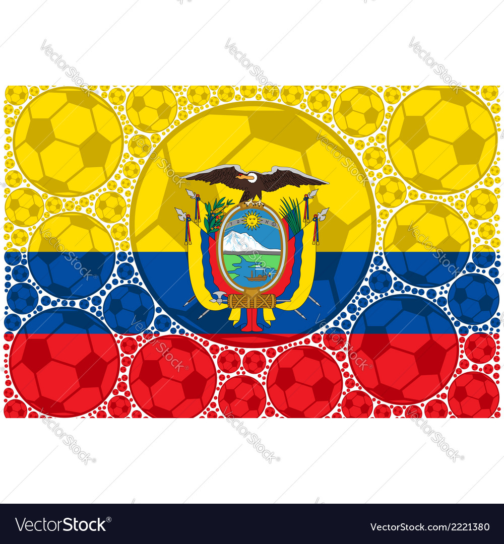 Ecuador soccer balls vector | Price: 1 Credit (USD $1)
