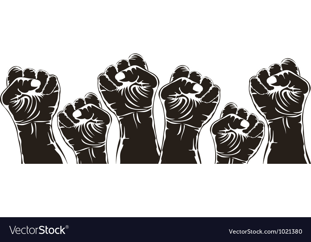 Fist for revolution vector | Price: 1 Credit (USD $1)
