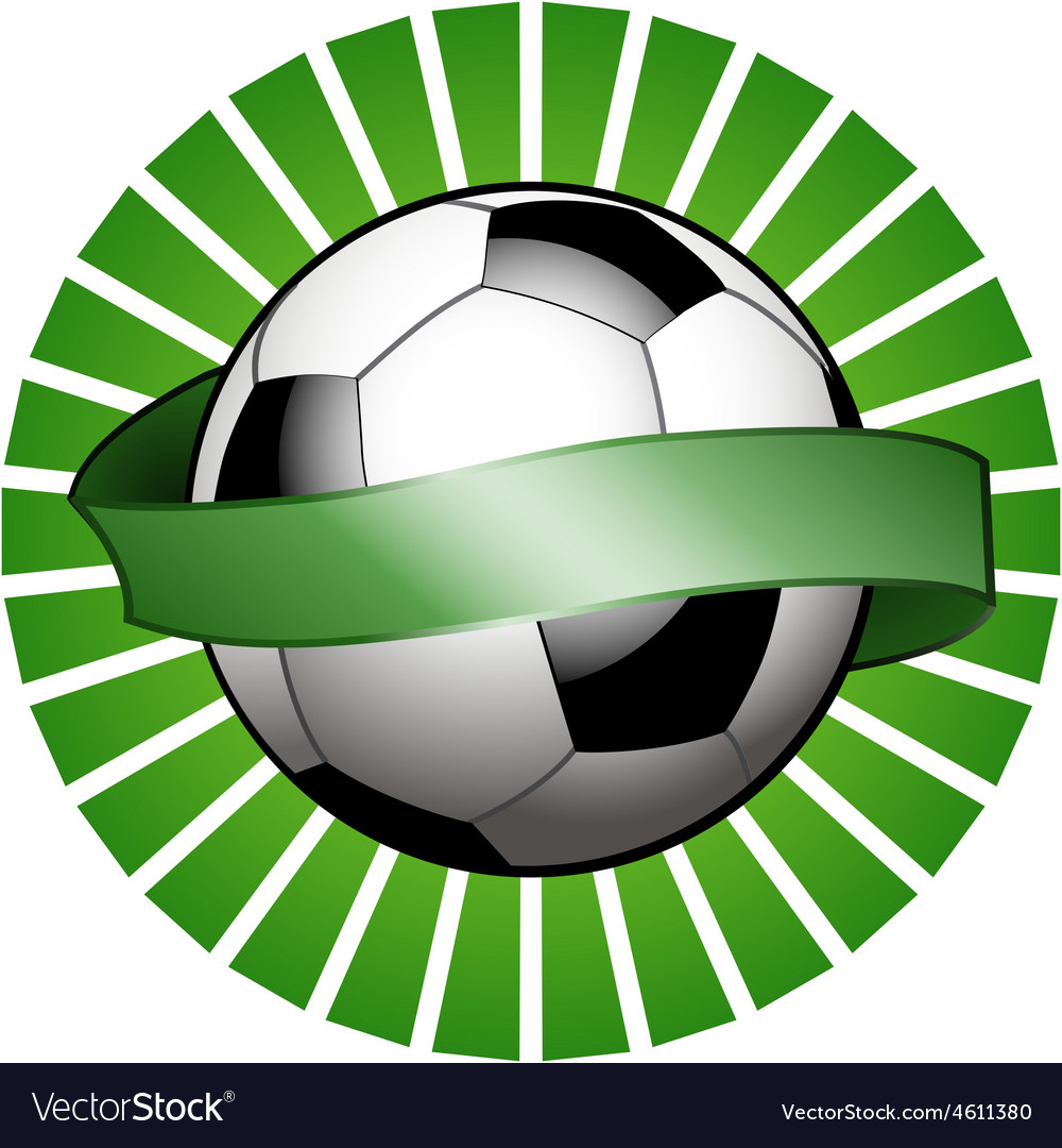 Football shield with banner vector | Price: 1 Credit (USD $1)