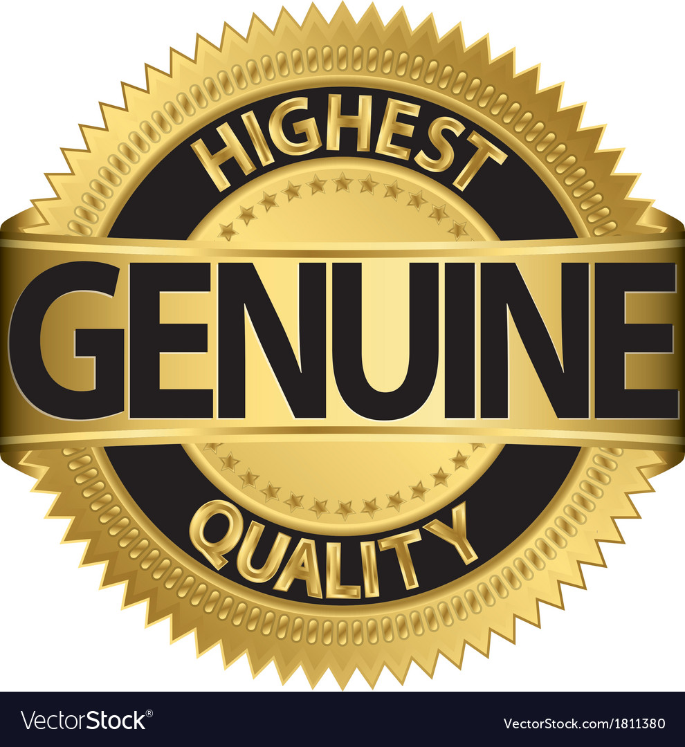 Genuine highest quality gold label vector | Price: 1 Credit (USD $1)
