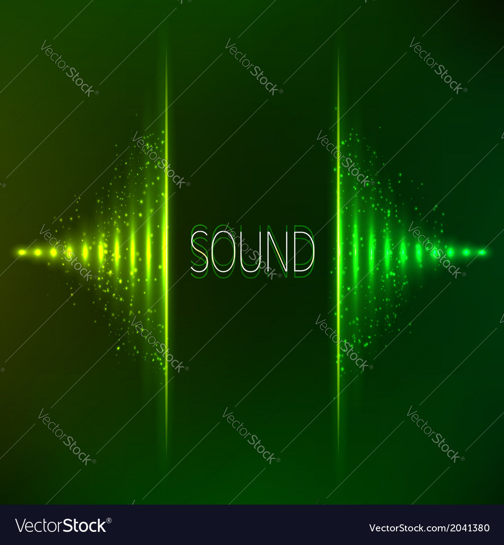 Green neon stereo equalizer vector | Price: 1 Credit (USD $1)