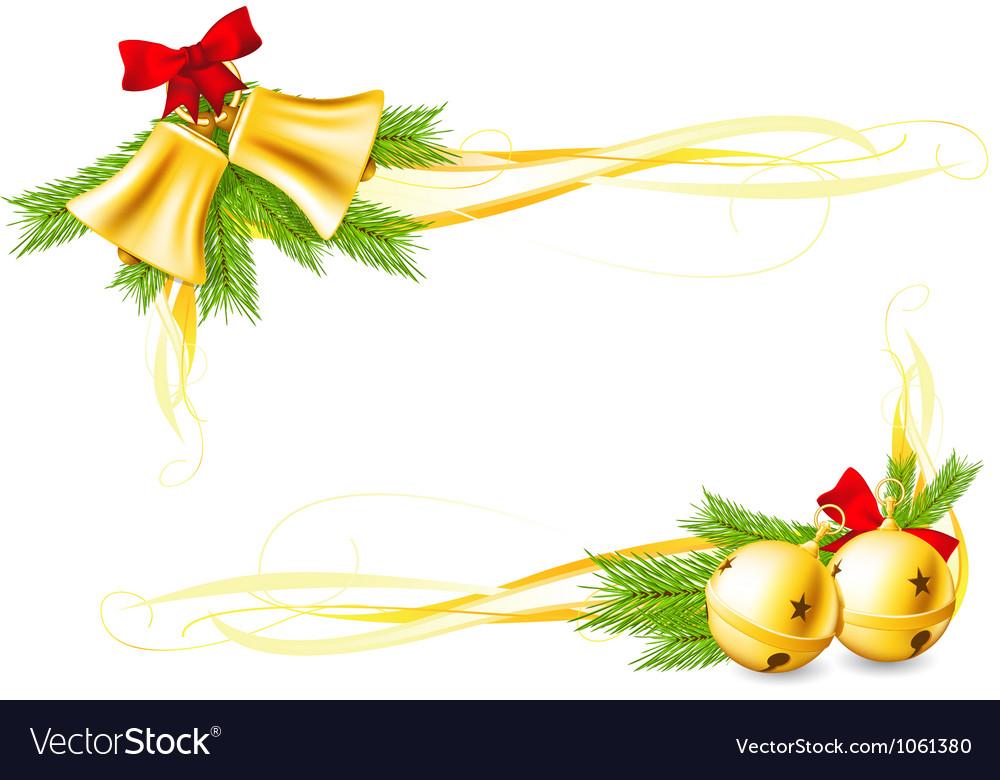 Jingle bells and christmas decorative corners vector   Price: 1 Credit (USD $1)