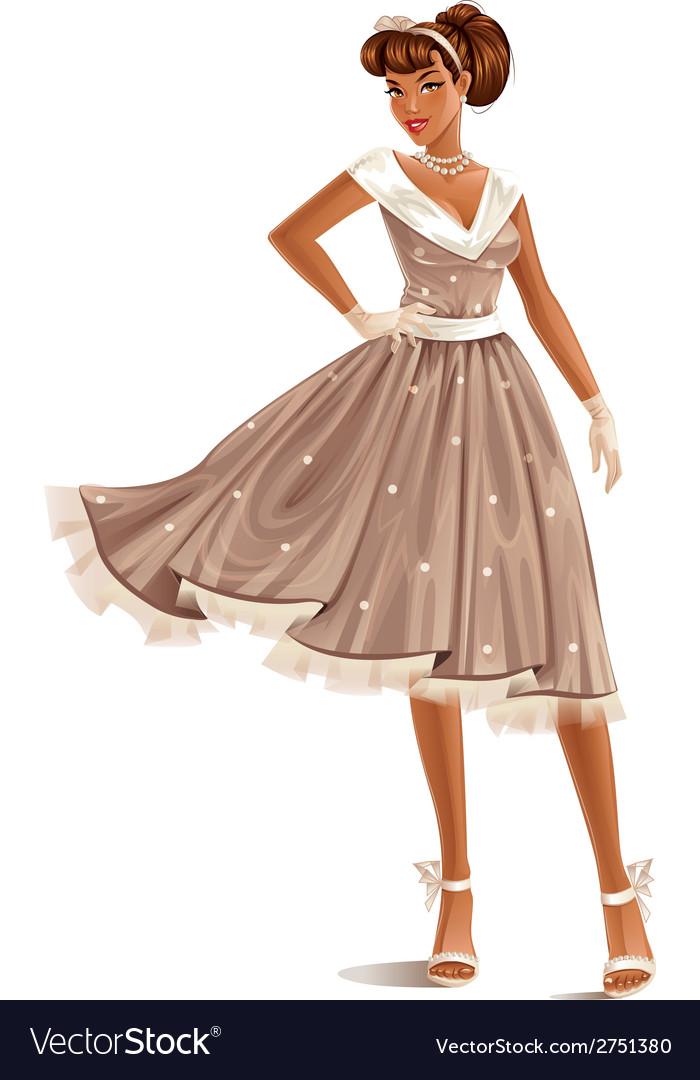 Retro dress vector | Price: 3 Credit (USD $3)