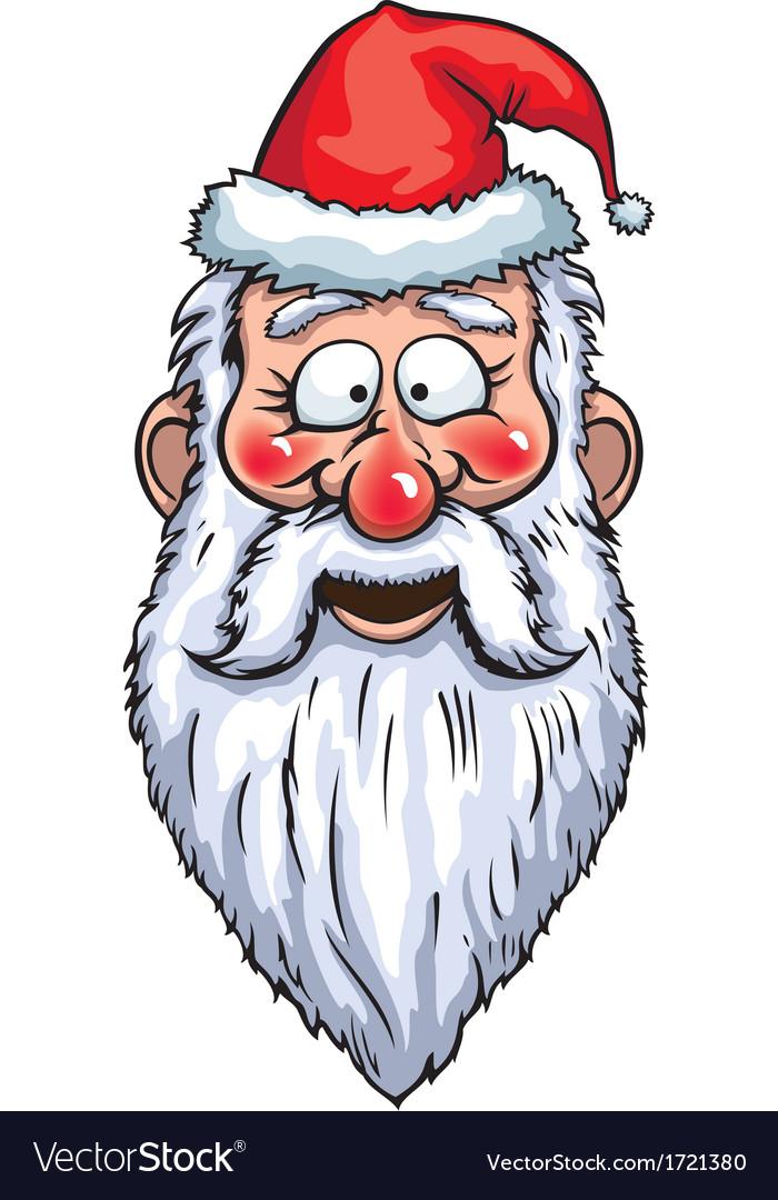 Santa claus smiling head vector   Price: 1 Credit (USD $1)