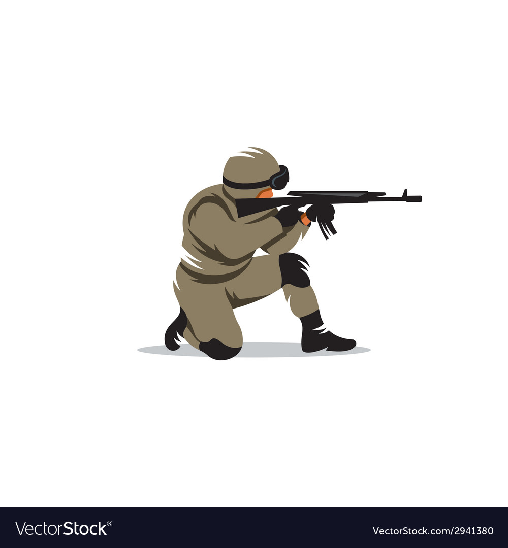 Tactical shooting sign vector | Price: 1 Credit (USD $1)