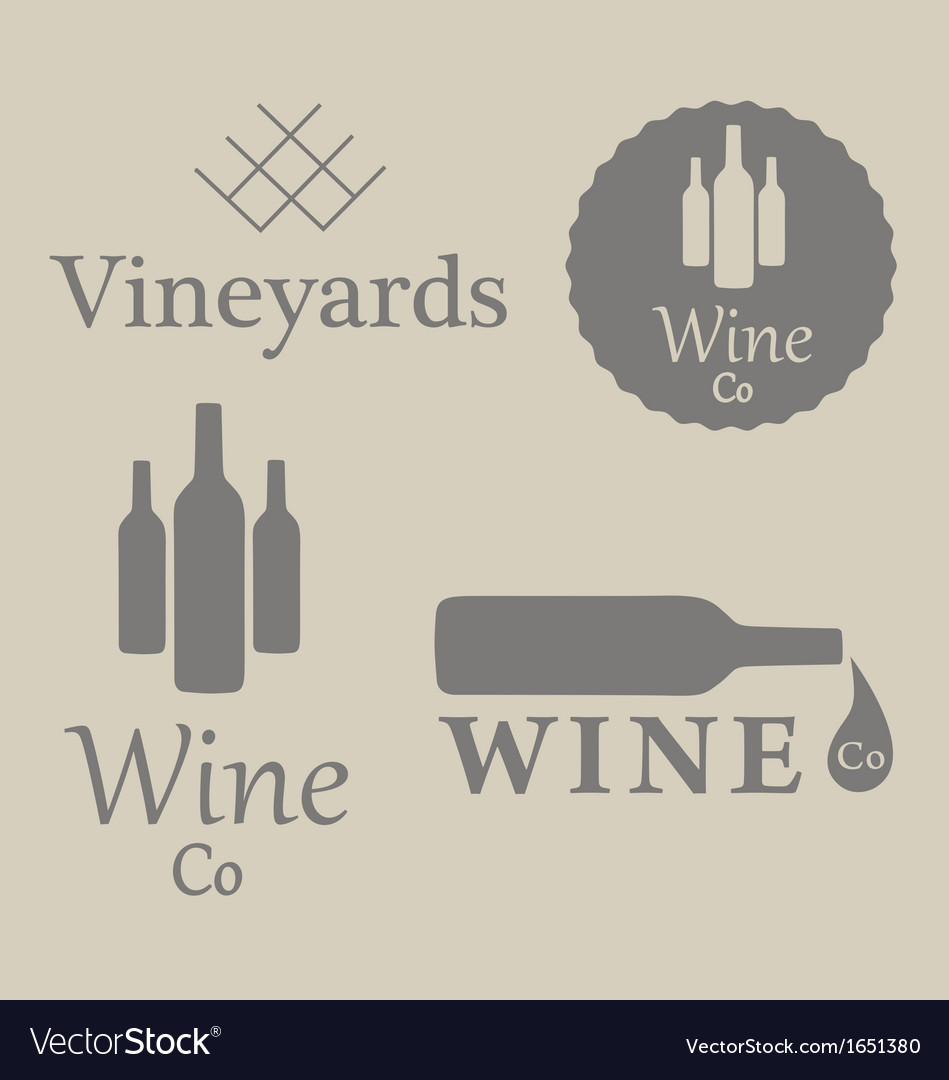Wine beverage logos vector | Price: 1 Credit (USD $1)