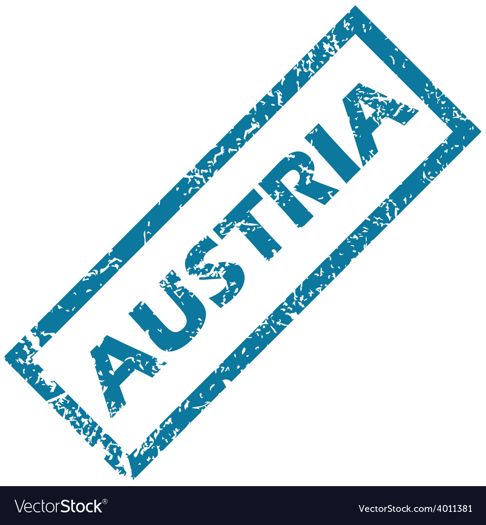 Austria rubber stamp vector | Price: 1 Credit (USD $1)