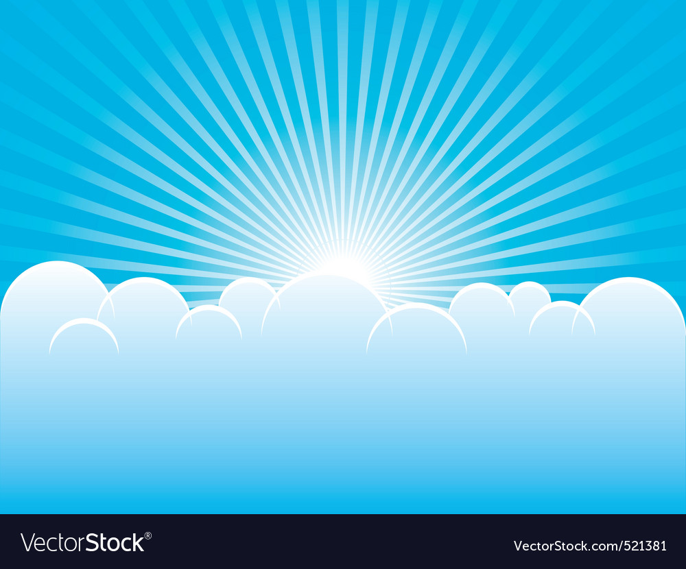Blue sky vector | Price: 1 Credit (USD $1)