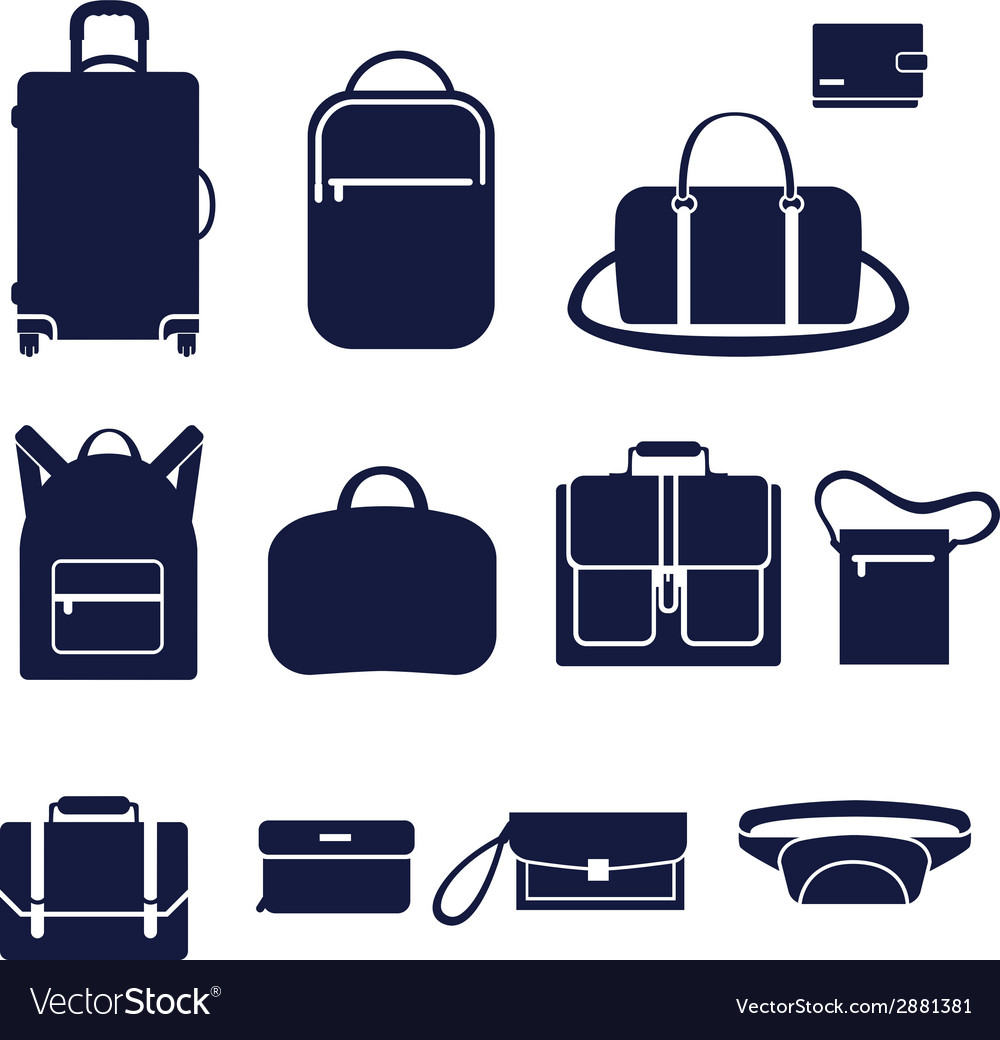 Different types of men bags vector | Price: 1 Credit (USD $1)