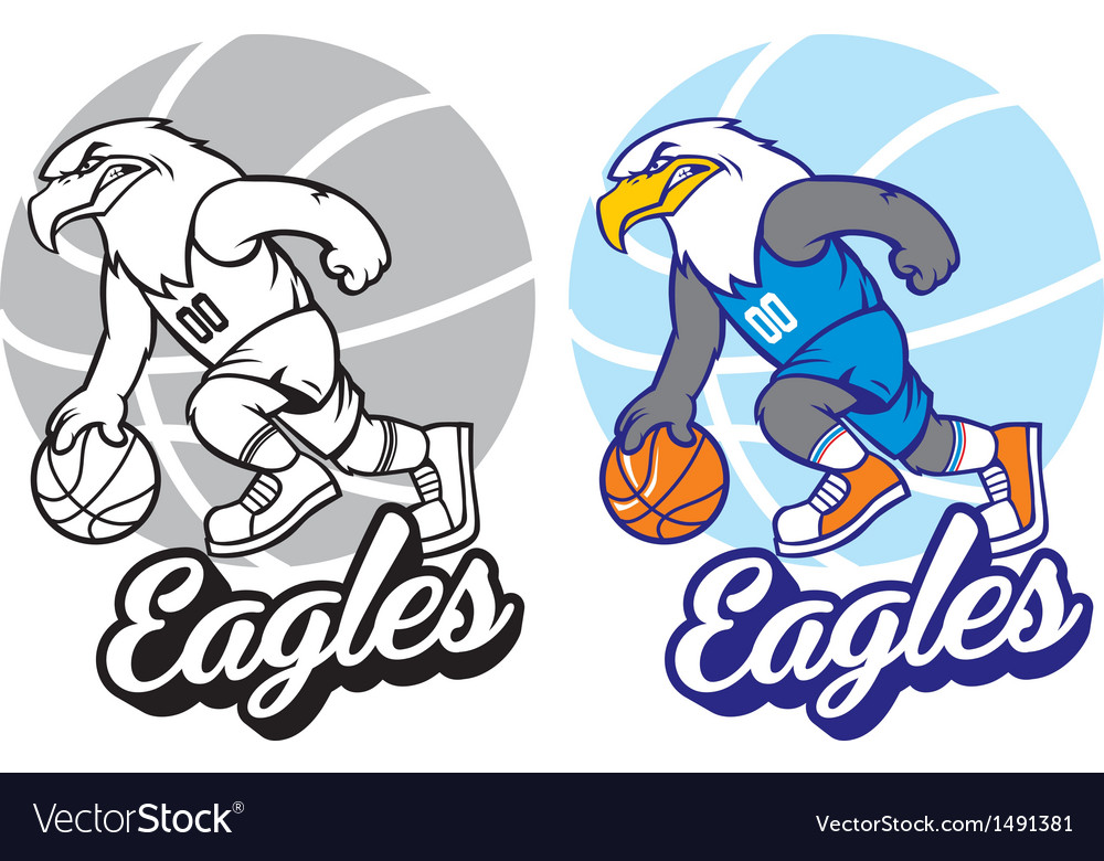 Eagle basketball mascot vector | Price: 1 Credit (USD $1)
