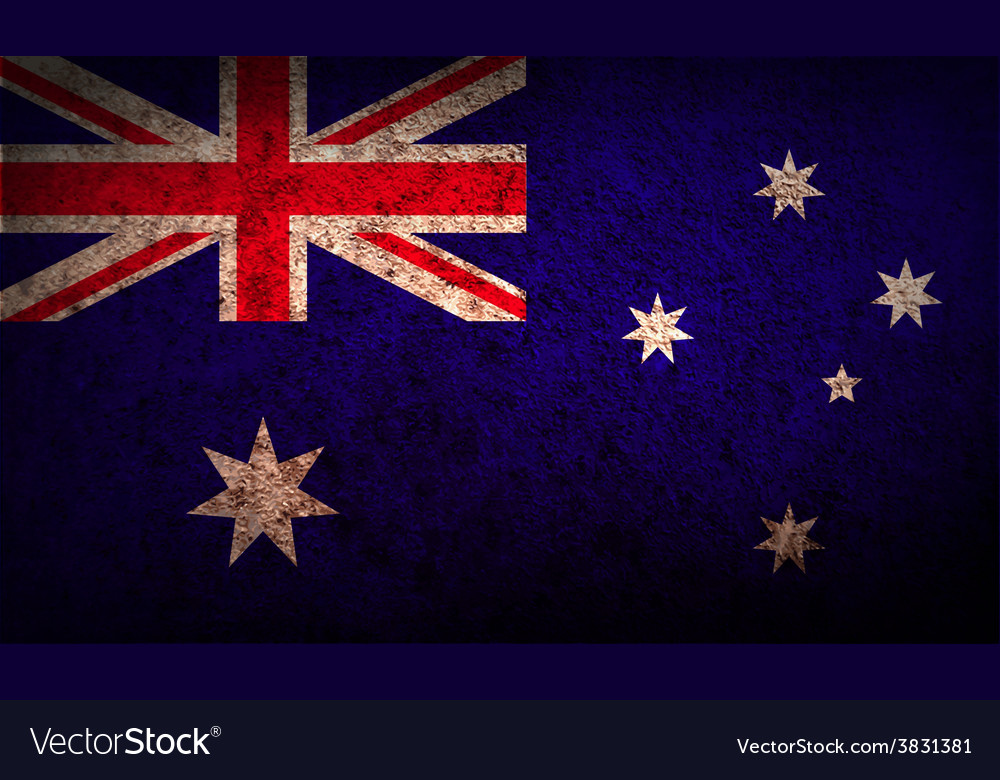 Flag of australia with old texture vector | Price: 1 Credit (USD $1)