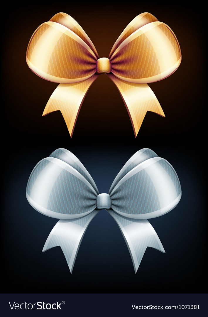 Golden and silver bows vector | Price: 1 Credit (USD $1)