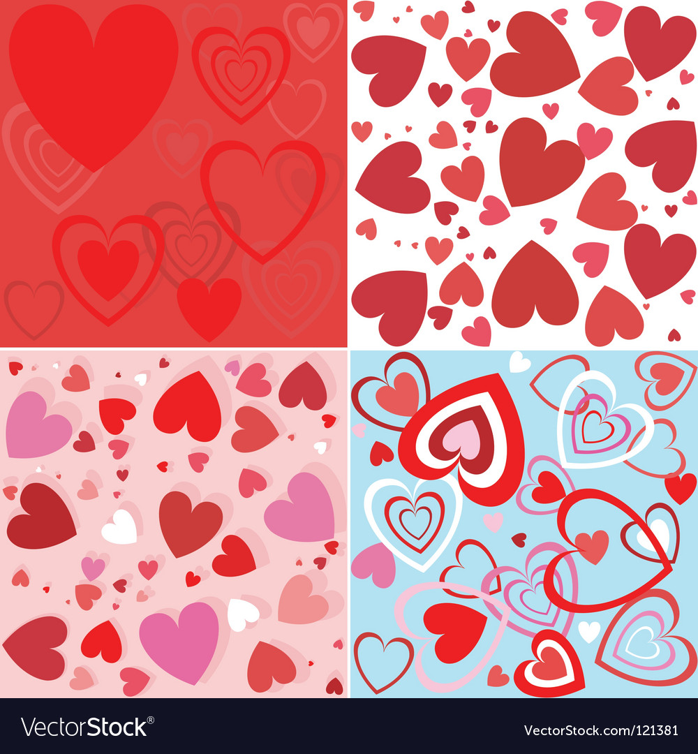 Heart seamless wallpaper vector | Price: 1 Credit (USD $1)