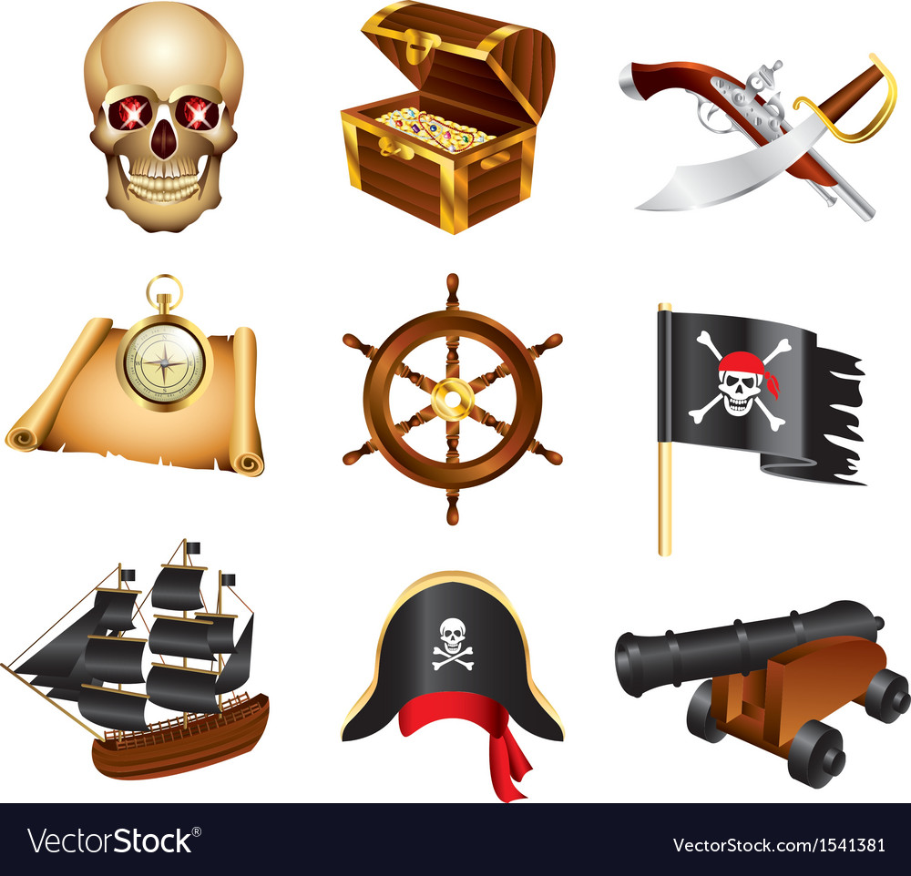 Icons pirates vector | Price: 3 Credit (USD $3)