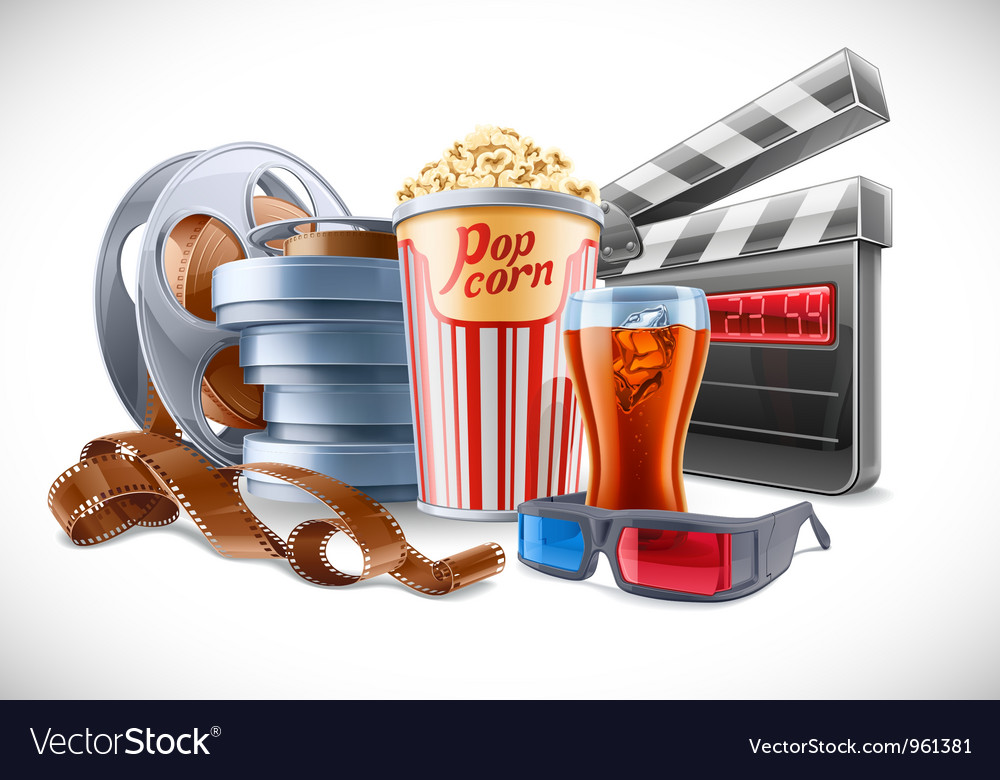 Movie elements vector | Price: 5 Credit (USD $5)