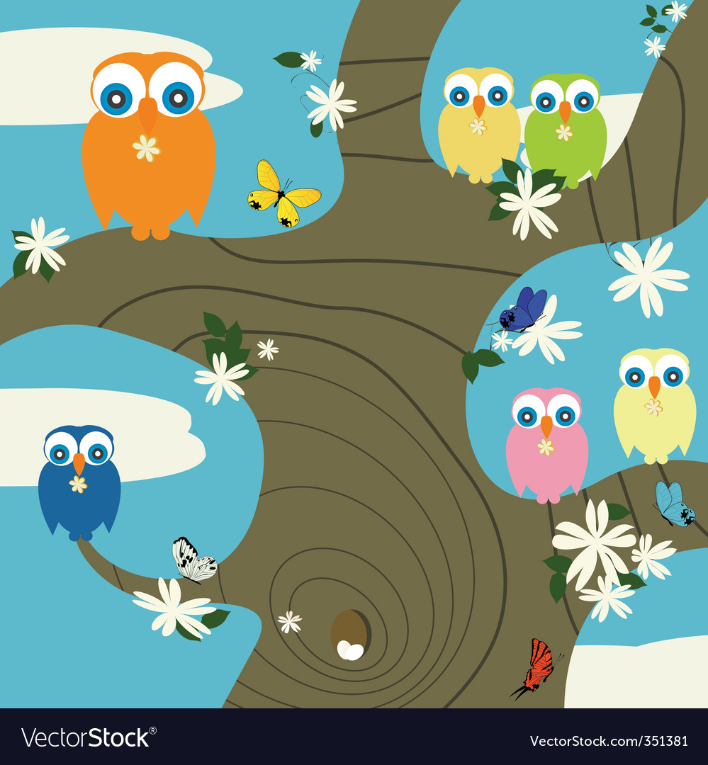 Owls nest vector | Price: 1 Credit (USD $1)