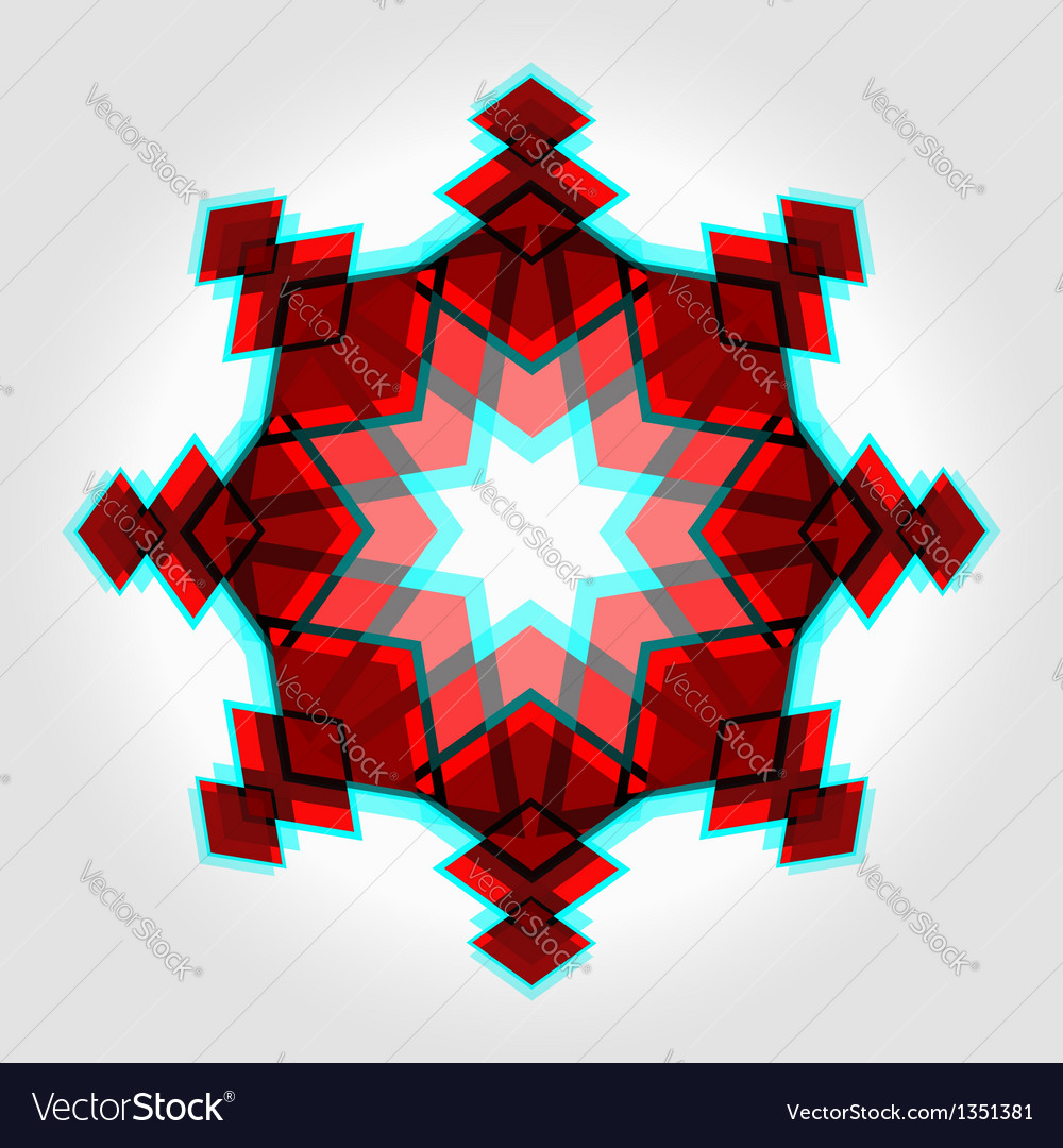 Red festive christmas star vector | Price:  Credit (USD $)