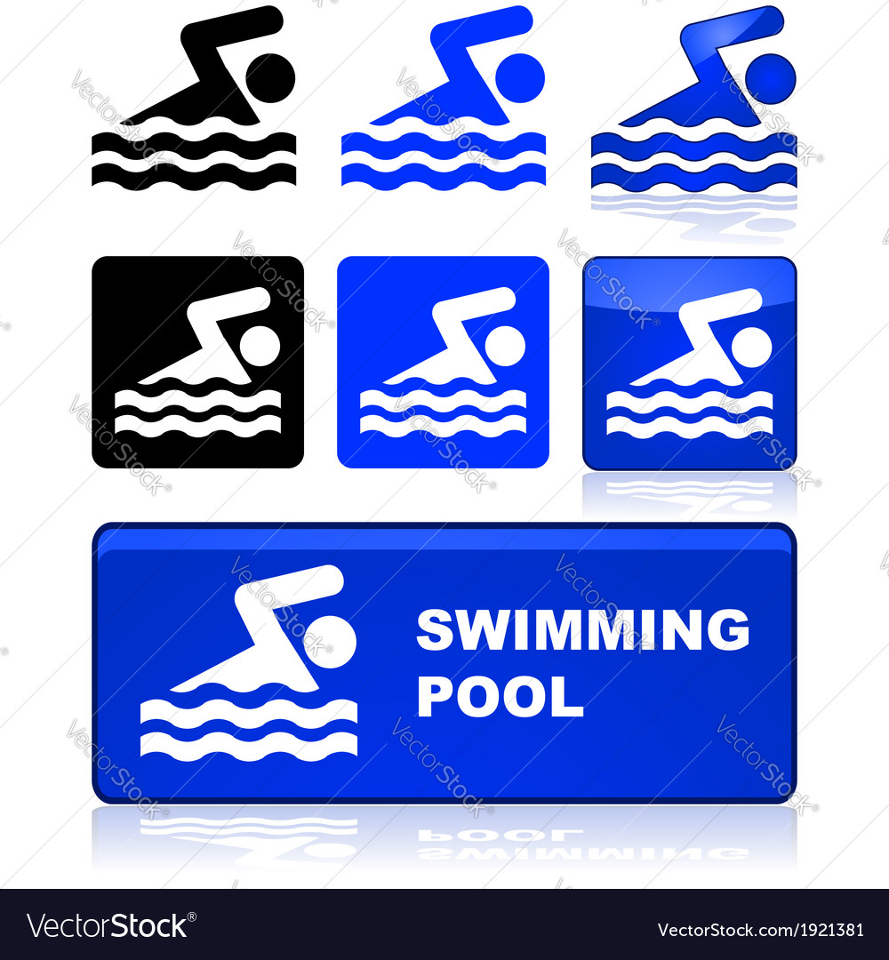 Swimming sign vector | Price: 1 Credit (USD $1)