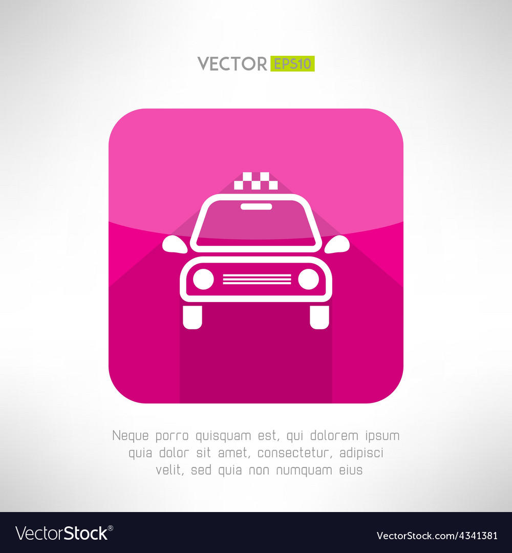 Taxi cab icon in moder clean and simple flat vector | Price: 1 Credit (USD $1)