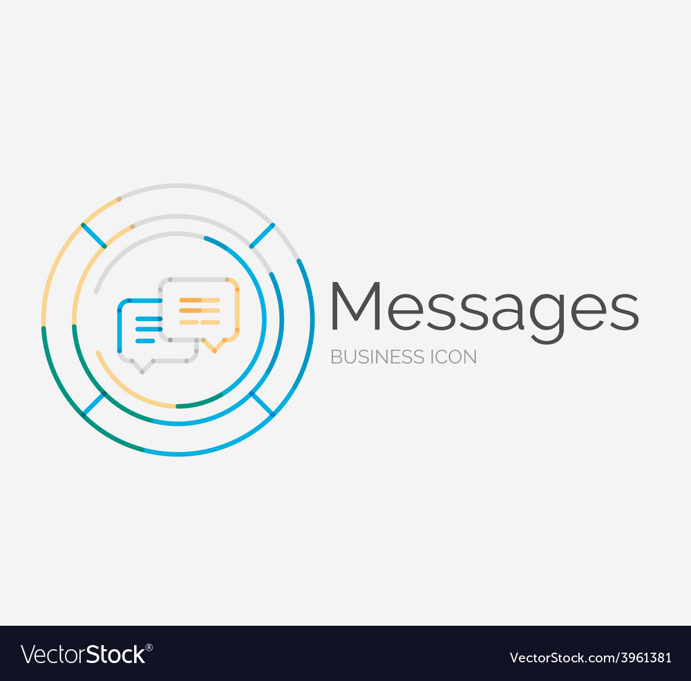 Thin line neat design logo messages concept vector   Price: 1 Credit (USD $1)