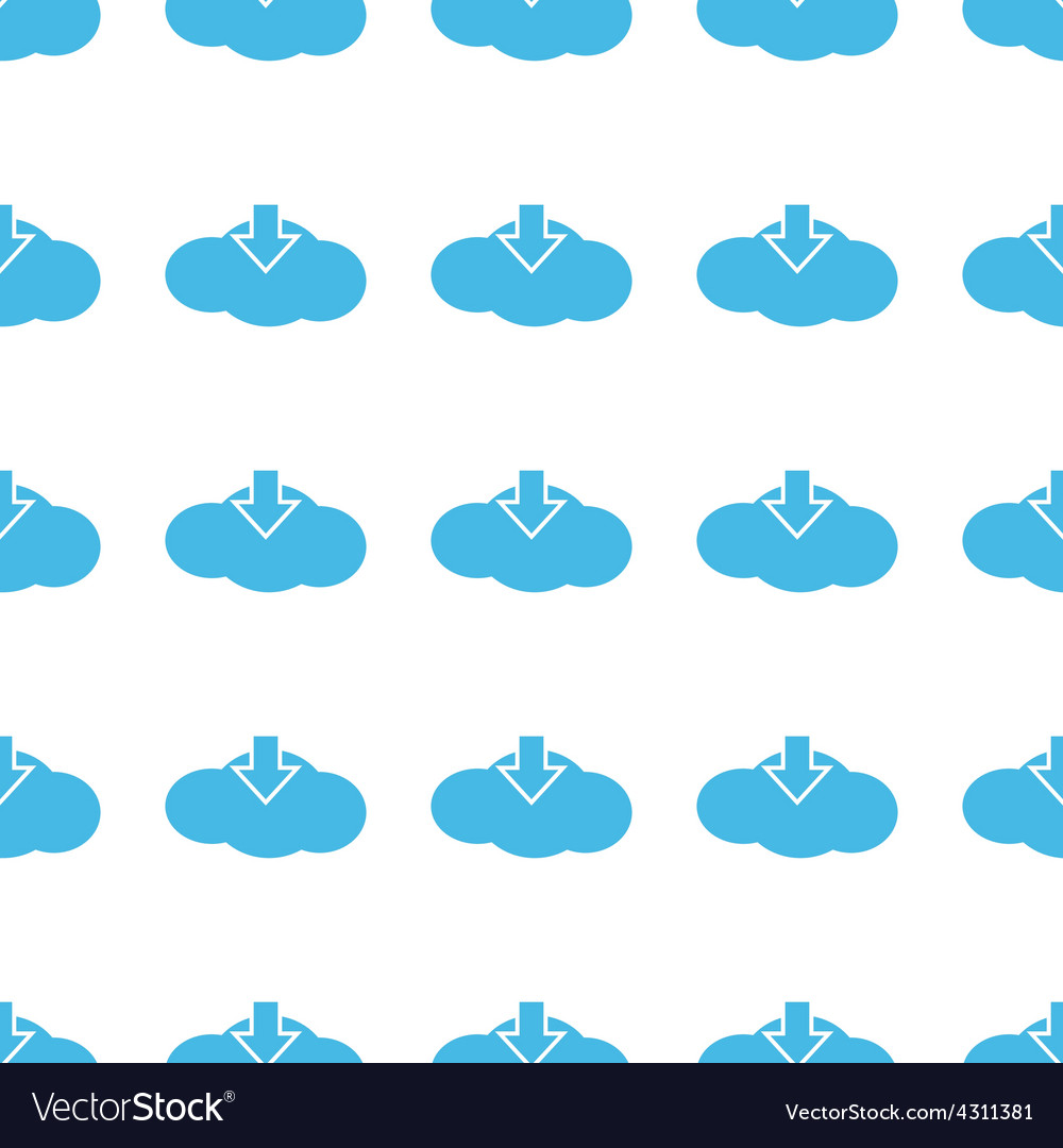 Unique download cloud seamless pattern vector | Price: 1 Credit (USD $1)