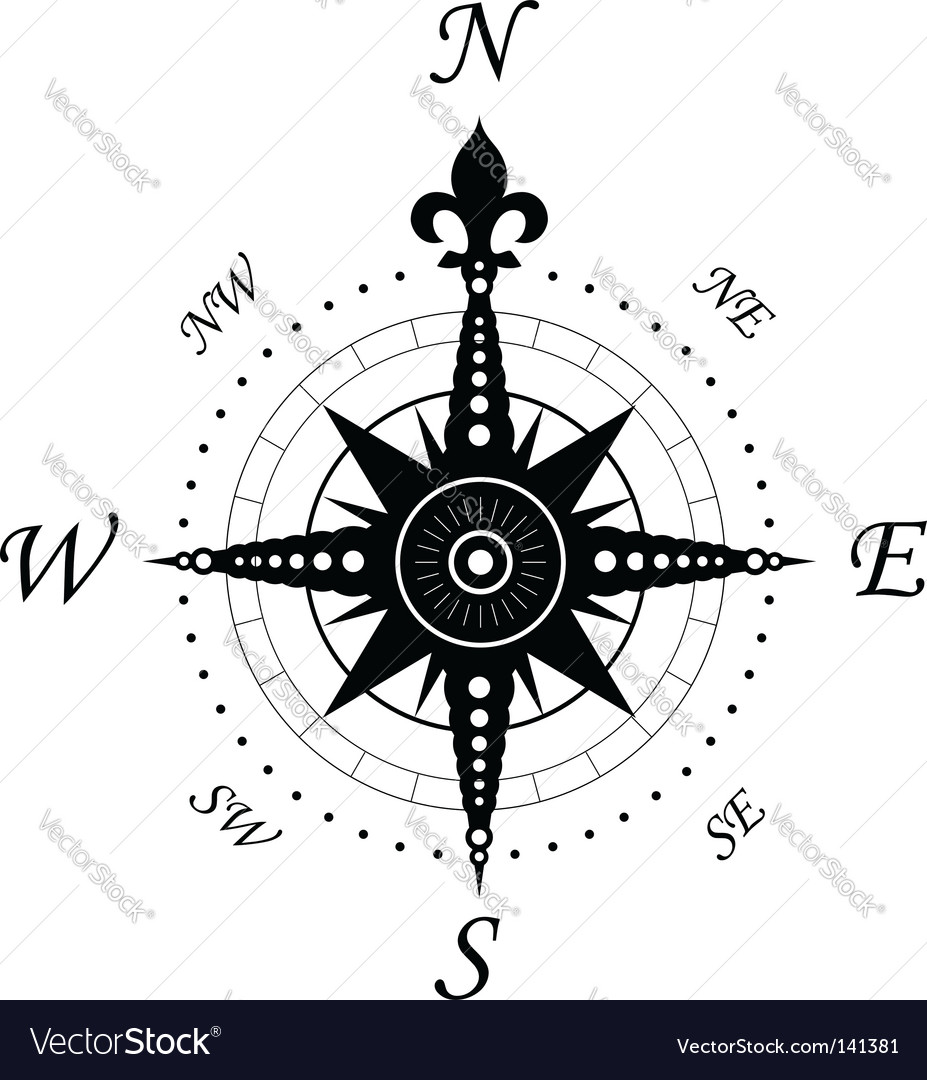 Vintage compass symbol vector | Price: 1 Credit (USD $1)
