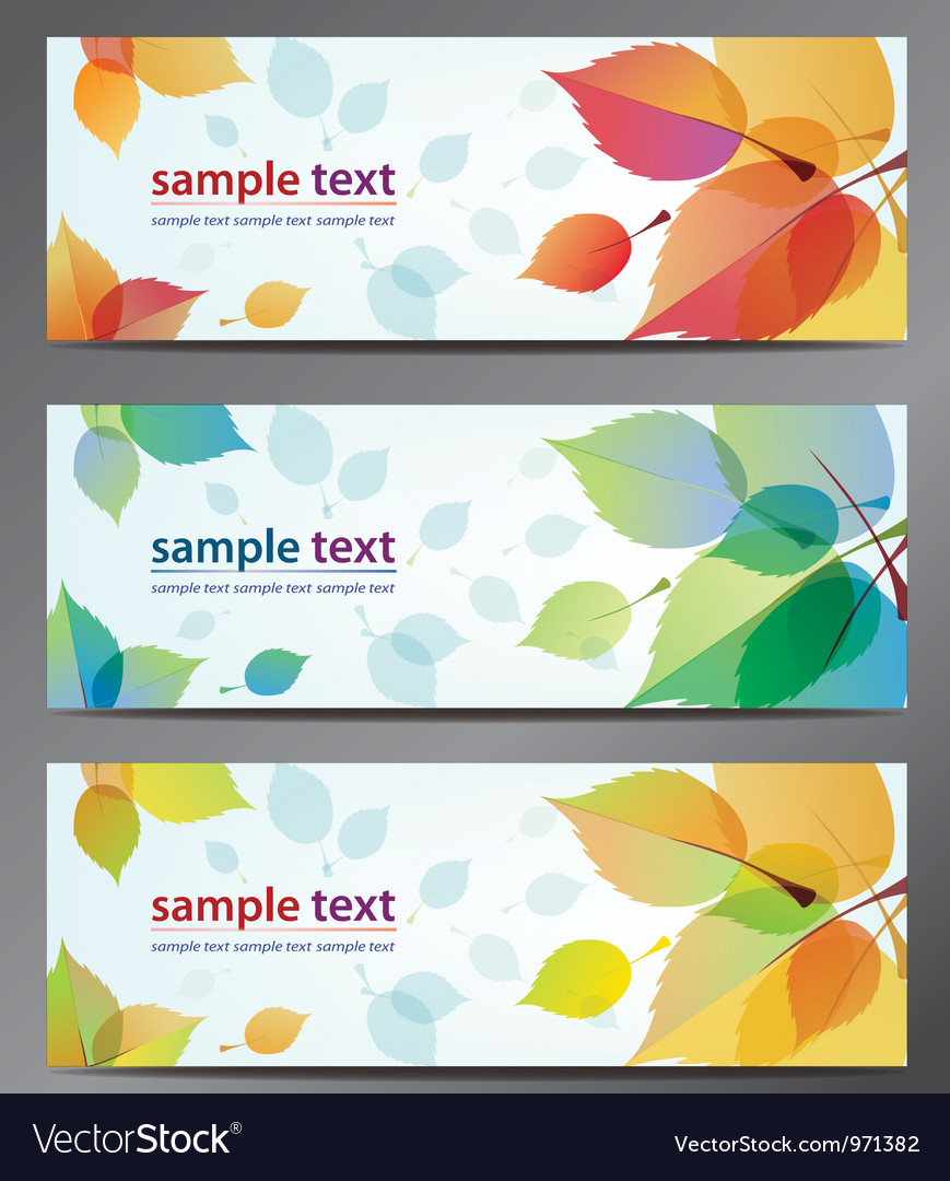 Autumn leaves background brochure vector | Price: 1 Credit (USD $1)