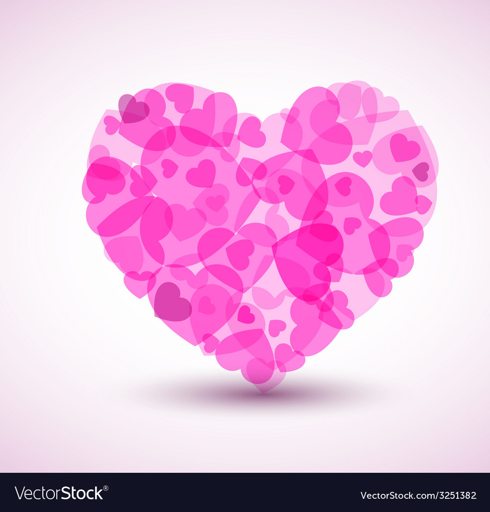 Big heart made from smaller hearts vector | Price: 1 Credit (USD $1)