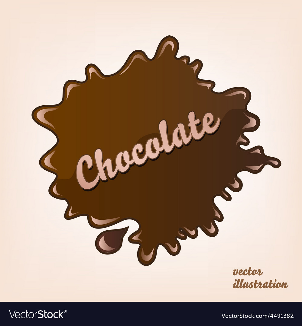 Chocolate splash isolated vector | Price: 1 Credit (USD $1)